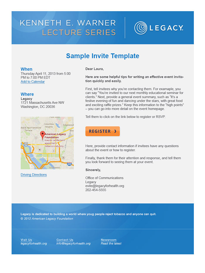 Legacy - Email Template